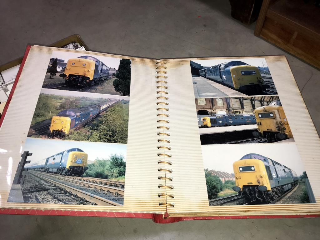 2 albums and a box of loose postcards, mostly trains, - Image 6 of 7
