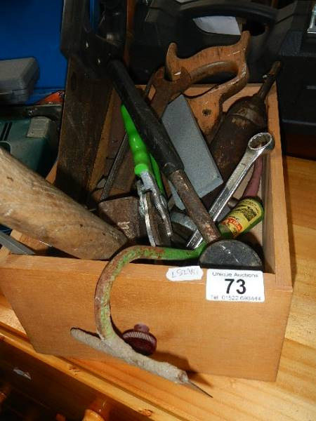 A box of old tools.