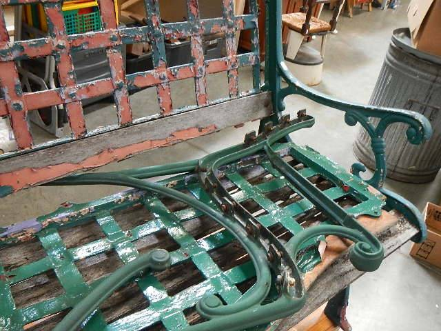 Two old cast garden benches in need of attention. - Image 3 of 3