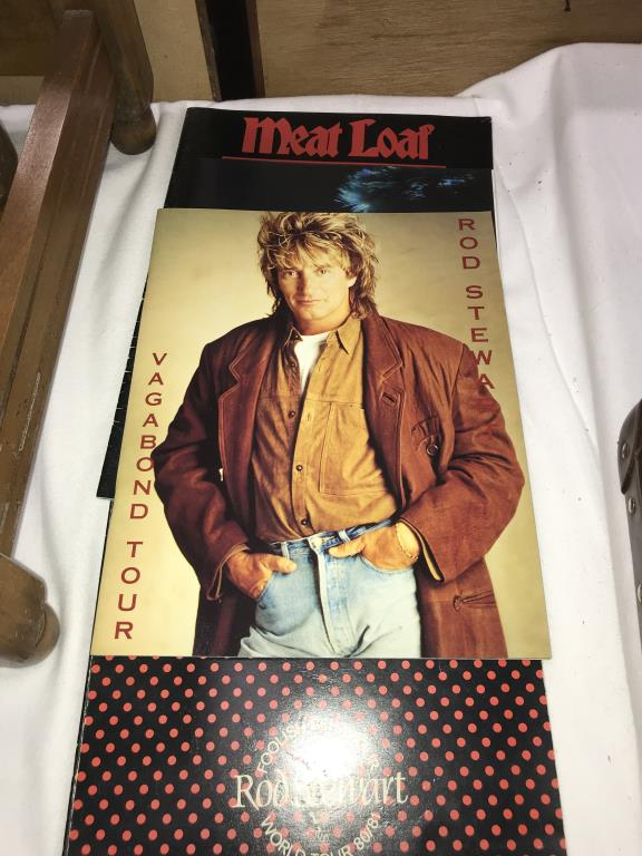 A quantity of music tour programmes including Bowie, Meatloaf & Rod Stewart etc. - Image 7 of 10