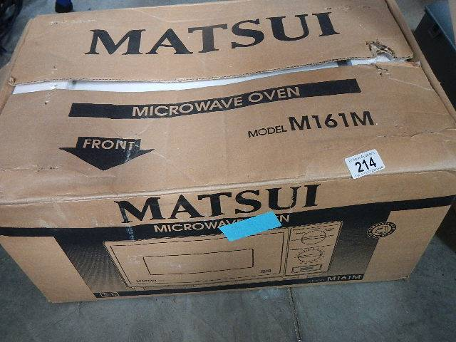 A new Matsui microwave oven.