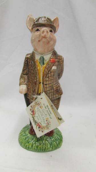 Two Beswick figurines - The Gentleman Pig and The Lady Pig. - Image 2 of 5