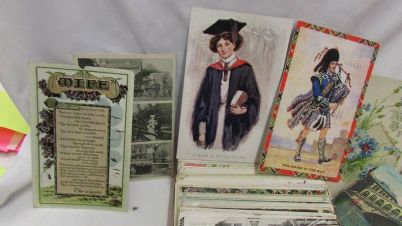 In excess of 200 interesting old postcards and greeting cards. - Image 2 of 6