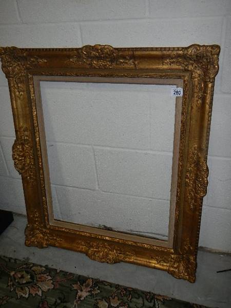 A good quality gilded picture frame, 73 x 84 cm.
