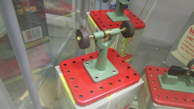 Five boxed Mamod steam engine accessories including power hammer, polisher etc. - Image 6 of 6