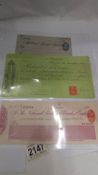 A collection of various bank cheques etc. - Image 5 of 5