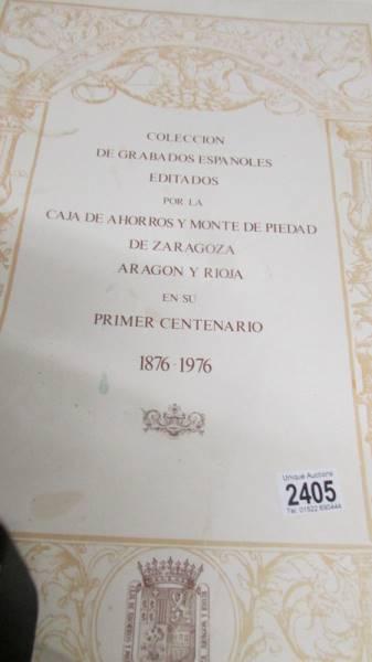 A portfolio of Spanish prints 'Collection Casa De Ahorros'.