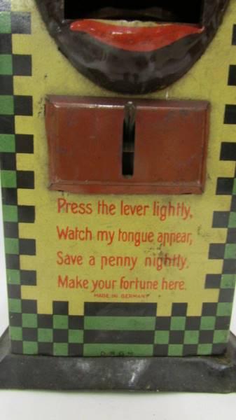 A pre-war tin plate novelty money box (no key). - Image 3 of 11