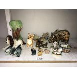 A mixed lot including Wade Whimsies, Sylvac, Capodimonte & Goebel etc.
