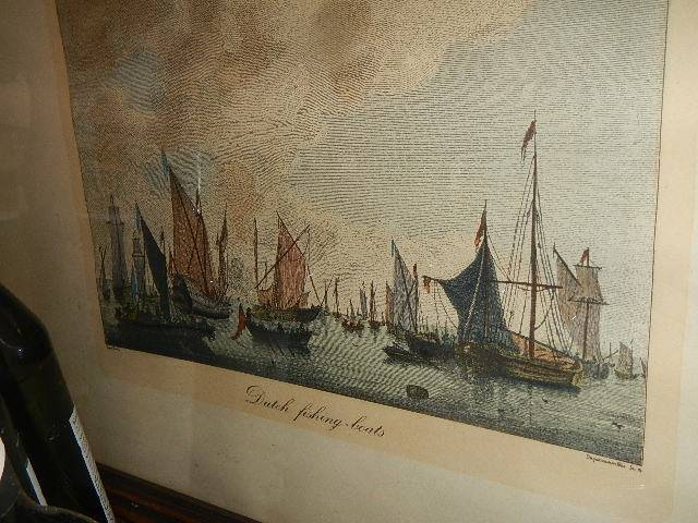 A pair of nautical prints of English and Dutch fishing fleets. - Image 2 of 4