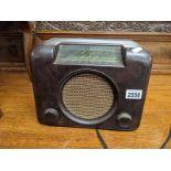 A vintage bakelite radio.