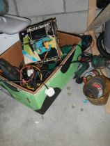 A box of assorted power tools (sold as seen).
