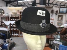 A C.W. headdress pathfinder HM Prison service ladies bowler hat/helmet.