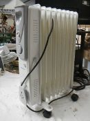 An electric heater.