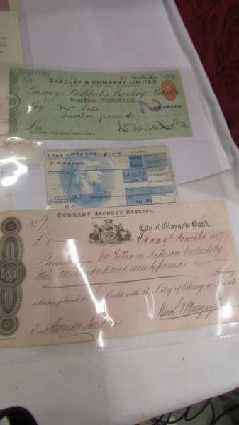 A collection of various bank cheques etc. - Image 3 of 5