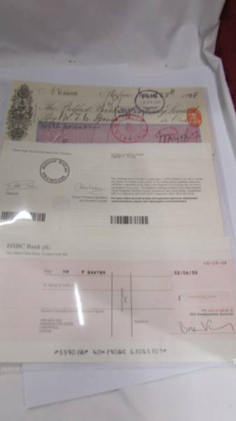 A collection of various bank cheques etc. - Image 4 of 5