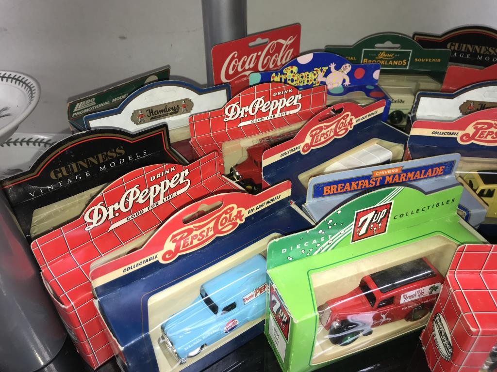 A selection of Lledo Guinness, Hamley's, Pepsi, Stanley Gibbons diecast models, - Image 5 of 6