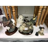 A collection of animal figures including Royal Doulton, Border fine arts,