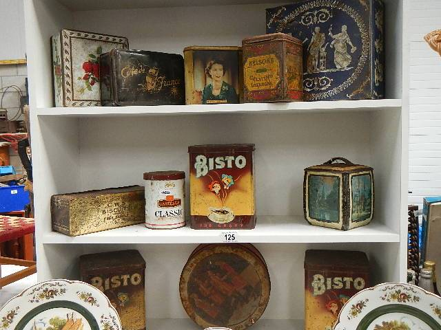A good selection of old collector's tins.