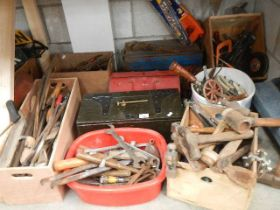 A large quantity of assorted tools.