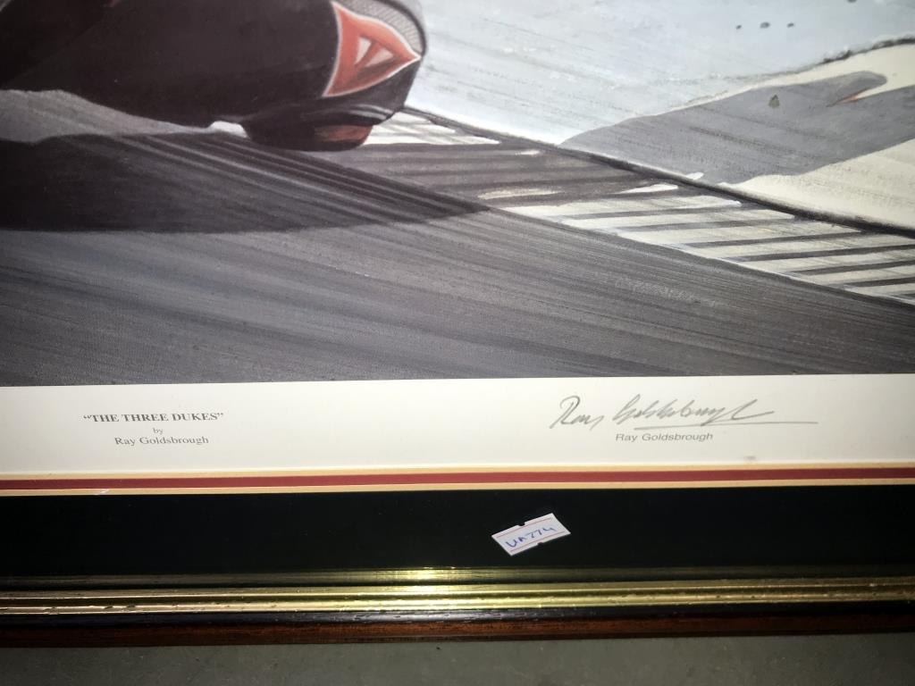 5 limited edition framed & glazed motorcycle pictures of Carl Fogarty. Signed C.F & Ray Goldsbrough. - Image 4 of 26