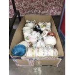 A selection of porcelain milk jugs & sugar bowls etc.