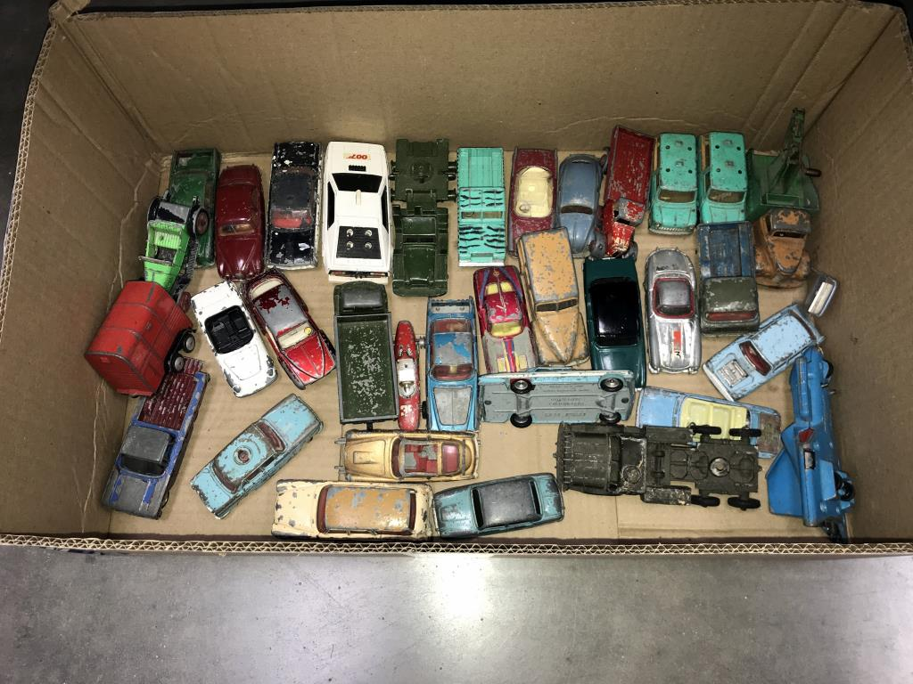 A large box of play worn Dinky & Corgi die cast vehicles - Image 2 of 2