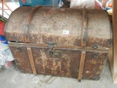 An old domed top trunk.