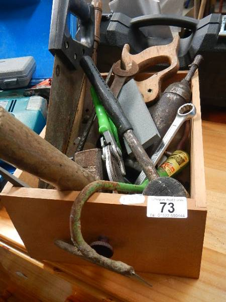 A box of old tools. - Image 2 of 2