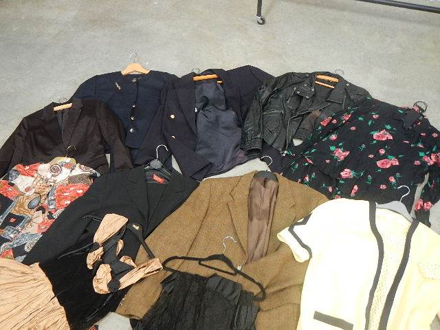 A full rail of vintage and other clothing. - Image 2 of 12
