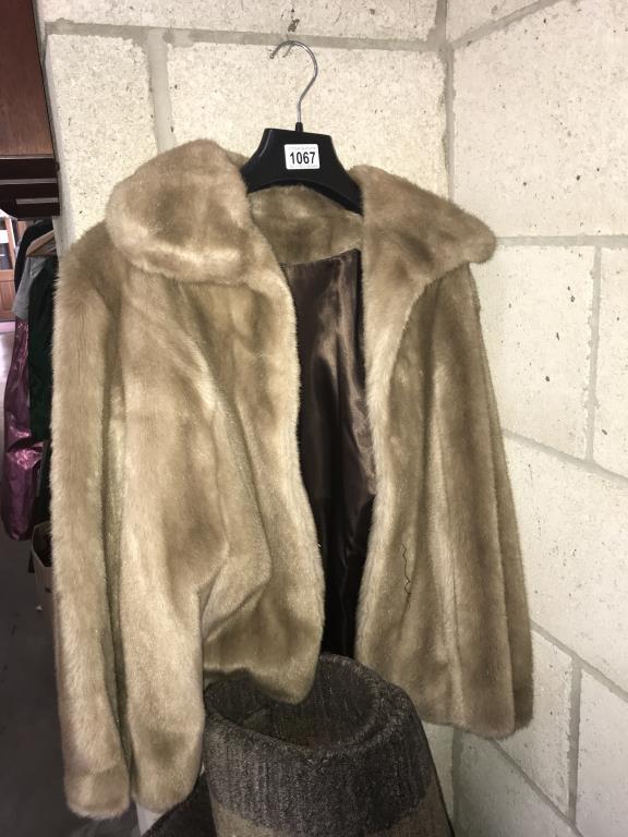 A retro faux fur jacket