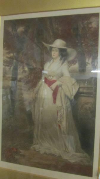 A framed and glazed framed study of a lady, signed. - Image 2 of 3