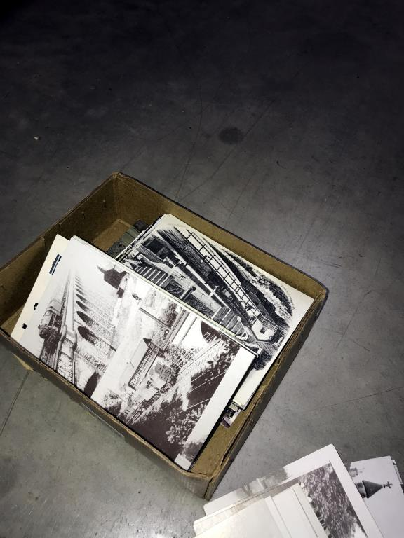 2 albums and a box of loose postcards, mostly trains, - Image 3 of 7