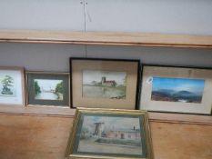 Five good watercolours, various sizes.