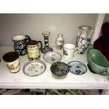 A quantity of Studio pottery etc.