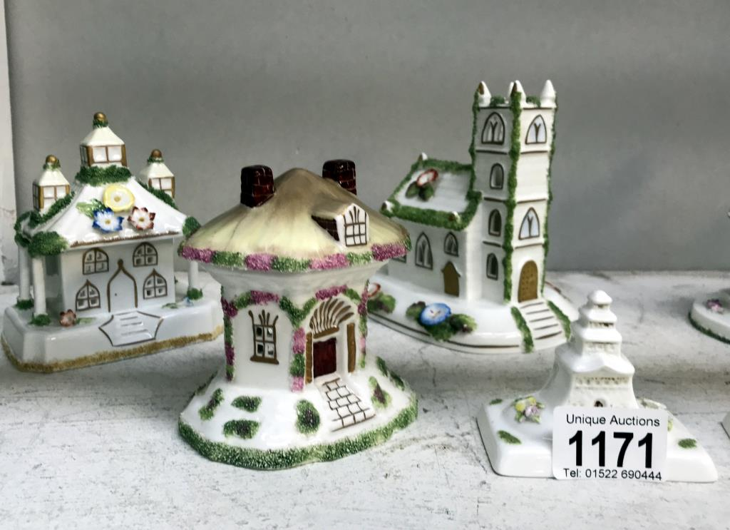 6 Coalport cottages & 2 Temple houses (some flowers A/F) - Image 2 of 3