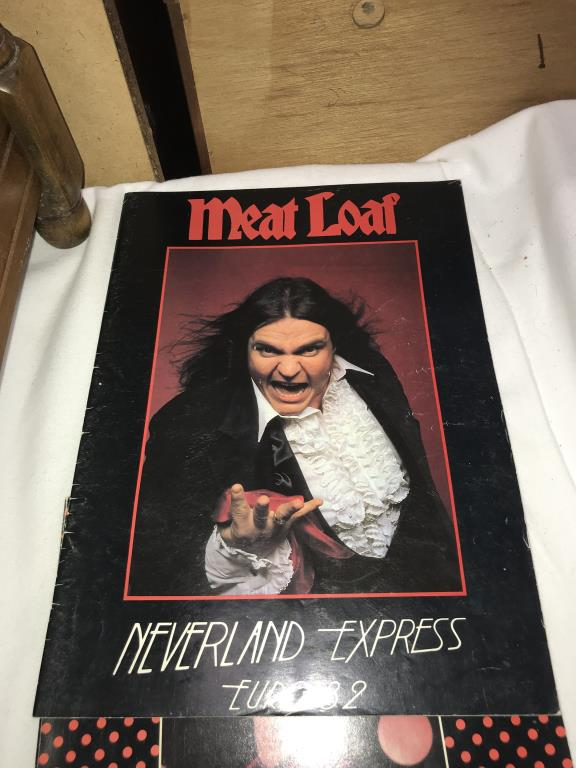 A quantity of music tour programmes including Bowie, Meatloaf & Rod Stewart etc. - Image 9 of 10