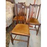 A set of 4 dining chairs.