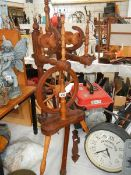 A ornamental spinning wheel, need some attention.