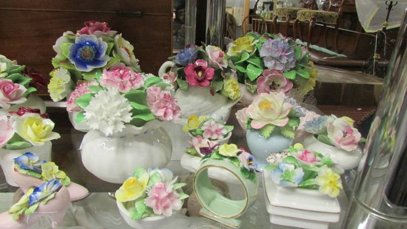 A collection of porcelain posies including Minton, Royal Doulton etc. - Image 2 of 3
