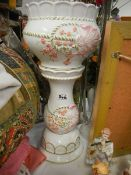 A 1970's jardiniere on stand in good condition.