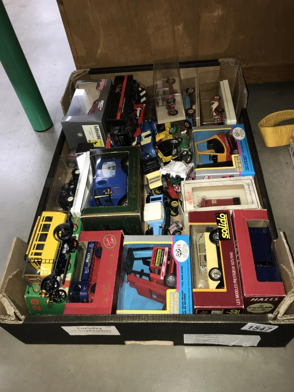 A quantity of mixed diecast boxed and unboxed including Solido, Corgi, Rio etc.