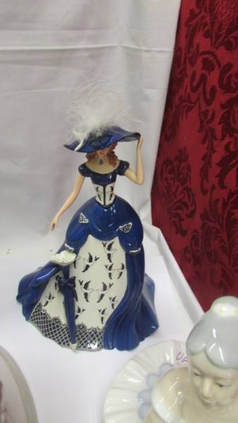 Three Lladro figures including girl at piano, - Image 3 of 6