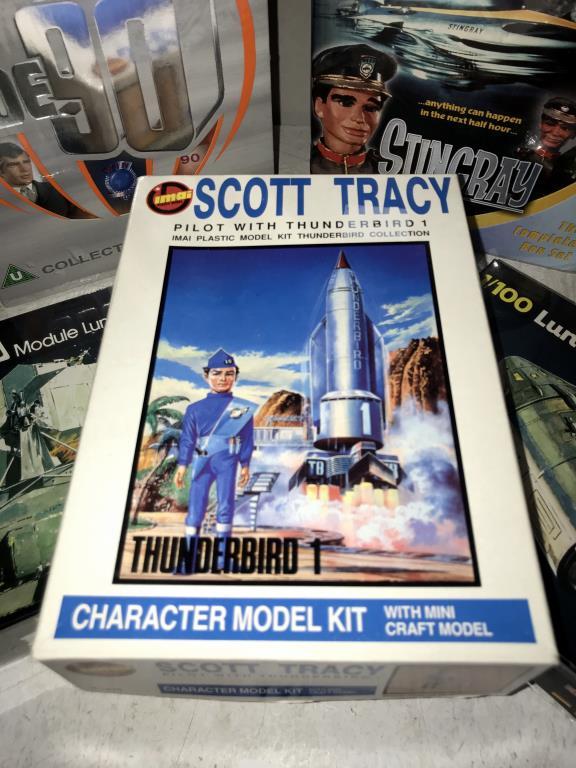 A Scott Tracy model kit, 2 Heller 1/100 Lunar models, - Image 2 of 6