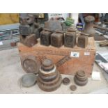A quantity of old weights.