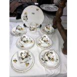 A Royal Grafton yellow & white rose tea set