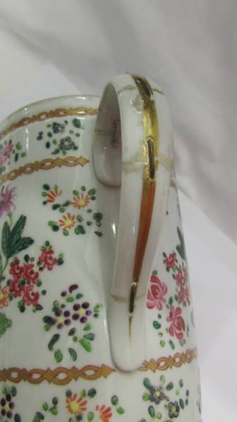 An Edme Sampson, Paris 'Chinese Export' armorial Tyg, Late 19th century, a/f (damage to one handle). - Image 4 of 5