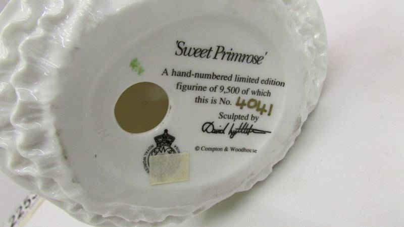 A limited edition Royal Worcester figurine - Sweet Primrose, 4041/9500. - Image 2 of 2