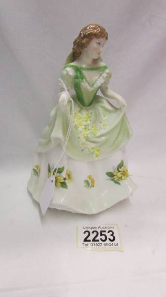 A limited edition Royal Worcester figurine - Sweet Primrose, 4041/9500.