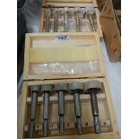 Two boxes of new Forstener wood boring bits.